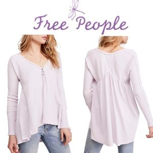 ⭐️ FREE PEOPLE Citrine Textured Cotton Blend Top